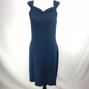 BCBG Max Azria Knit Navy Blue Sweetheart Dress XL
